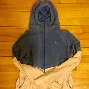 Colorblocked women's nike full zip hoodie- EUC